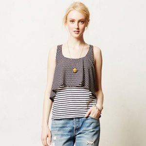 Anthropologie Meadow Rue Throughway Tiered Tank